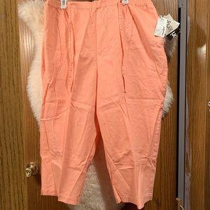 Pants - Light orange/peach Capris NWT